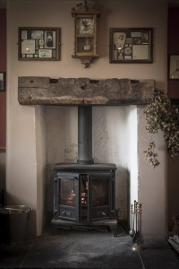 Relax by the real wood burner